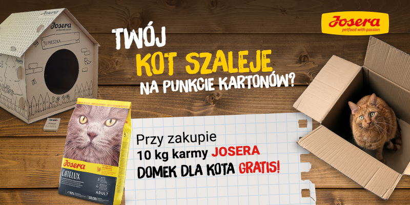 Josera - domek dla kota gratis