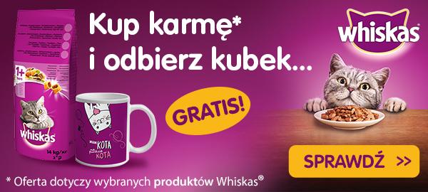whiskas karma + kubek gratis baner główny