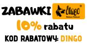 dingo 10% zabawki dla psa baner boczny