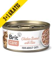 BRIT CARE CAT MOKRA KARMA DLA KOTA pierś z kurczaka z ryżem