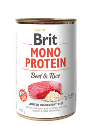 BRIT MONO PROTEIN MOKRA KARMA DLA PSA - wołowina z brązowym ryżem