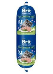 BRIT SAUSAGE CAT MIĘSNY BATON DLA KOTA kurczak i kaczka