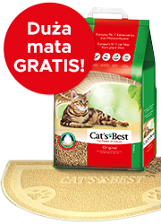 CATs BEST ORIGINAL ŻWIREK DLA KOTA 40l + mata gratis