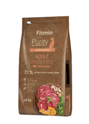 FITMIN DOG PURITY GRAIN FREE ADULT BEEF KARMA DLA PSA