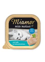 MIAMOR MILDE MAHLZEIT KITTEN CIELĘCINA Z KURCZAKIEM
