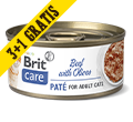 BRIT CARE CAT PASZTET DLA KOTA wołowina z oliwkami