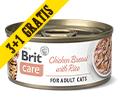 BRIT CARE CAT MOKRA KARMA DLA KOTA pierś z kurczaka z ryżem 3+1gratis