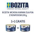 BOZITA MOKRA KARMA DLA PSA z reniferem 200g+200ggratis