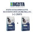 BOZITA GRAIN FREE SENSITIVE SINGLE PROTEIN KARMA DLA PSA z jagnięciną 1,1kg+1,1gratis