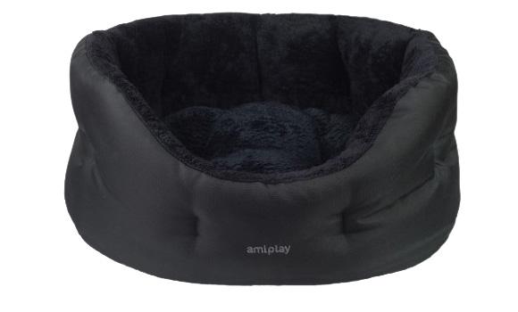 Ami Play Colosseum Aspen czarne legowisko dla psa i kota