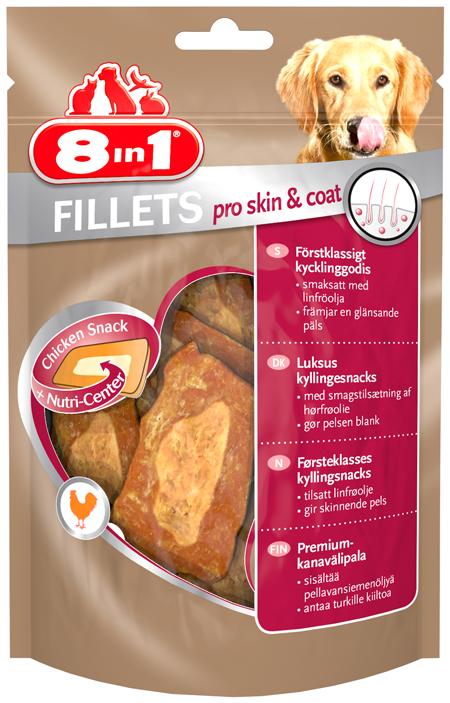 8in1 fillets pro skin coat przysmak dla psa