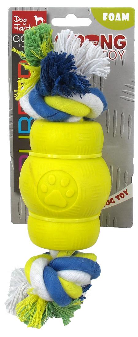 Gumowa zabawka ze sznurem dla psa