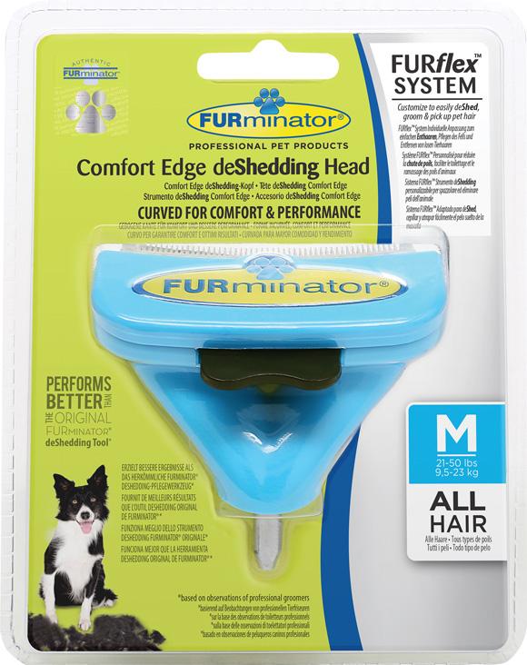 Furminator Furflex dla psa rasy średniej - głowica