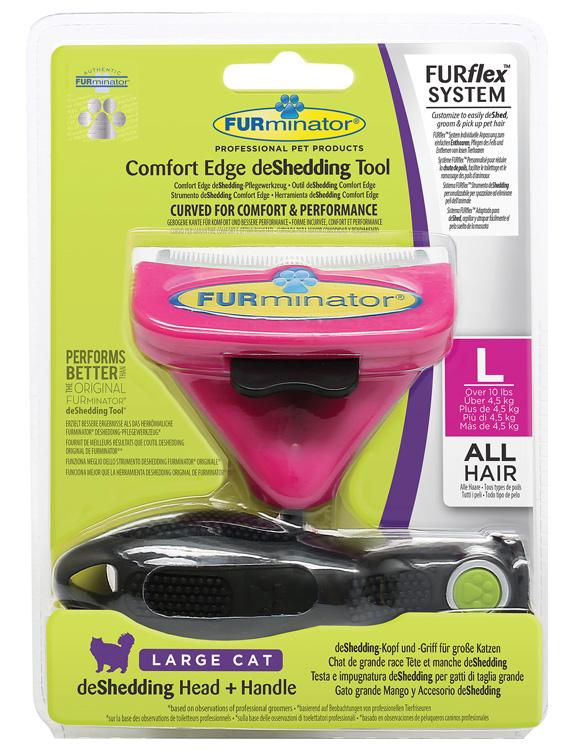 Furminator Furflex dla dużego kota - zestaw