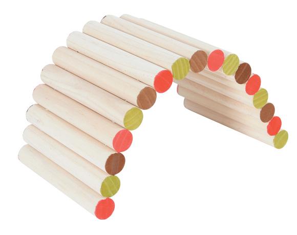 zolux drewniany mostek dla gryzoni 3336022097412